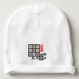 think outside box text message smart tic tac toe c baby beanie