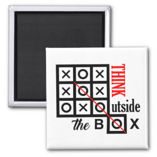 think outside box text message smart tic tac toe c square magnet