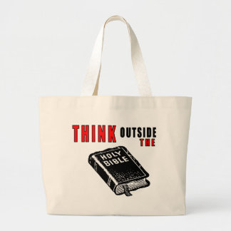 Think Outside The Bible Canvas Bags