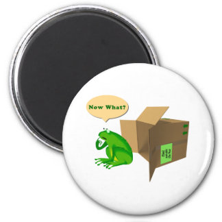 Think Outside The Box 6 Cm Round Magnet
