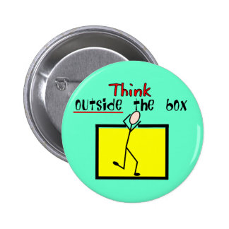 Think Outside the Box 6 Cm Round Badge