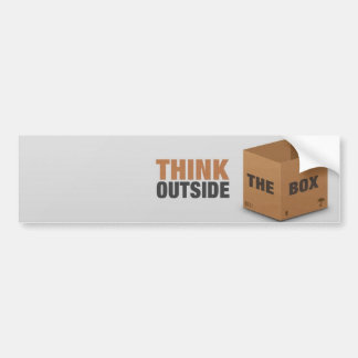 Think outside the Box Bumper Sticker