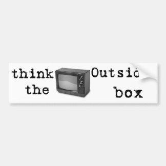 Think outside the box! bumper sticker