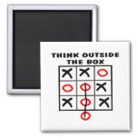 Think Outside The Box Fridge Magnets