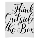 Think Outside The Box Motivational Typography Poster