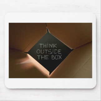 Think Outside The Box on Blackboard jpg Mouse Pads