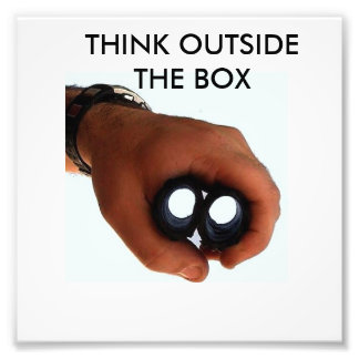 Think outside the box photo print