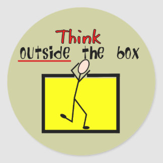 Think Outside the Box Round Sticker