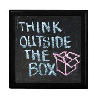 THINK OUTSIDE THE BOX - Slogan Keepsake Box