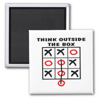 Think Outside The Box Square Magnet
