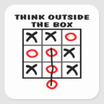 Think Outside The Box Square Stickers