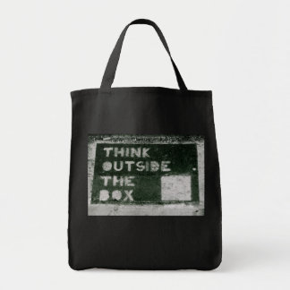 Think Outside The Box Grocery Tote Bag