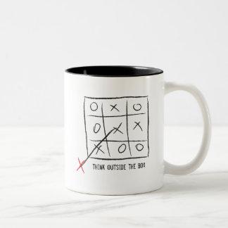 Think Outside the Box Two-Tone Coffee Mug