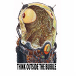 Think outside the bubble standing photo sculpture