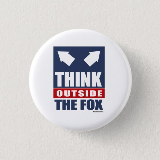 Think outside the fox 3 cm round badge