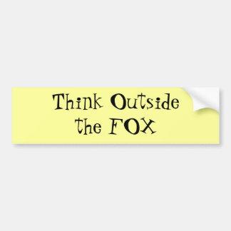 Think Outside the FOX Bumper Sticker