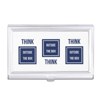 Think outside the navy box business card holder