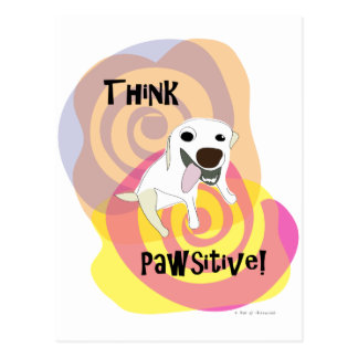 Think Pawsitive! Dog Paw of Attraction Postcard