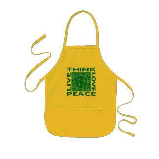 Think Peace. Love Peace. Live Peace. Kids' Apron
