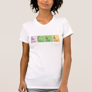 Think Periodic Table elements Ladies Fitted LS Tee