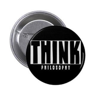 Think Philosophy 6 Cm Round Badge