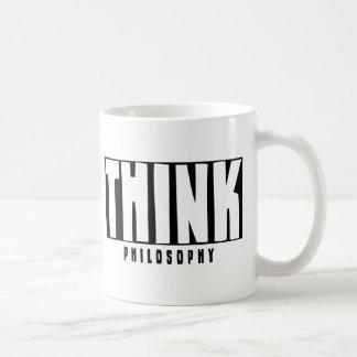 Think Philosophy Basic White Mug
