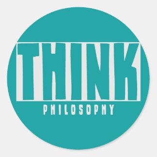 Think Philosophy Round Sticker