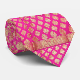 Think Pink Saree Silk in the Perfect Tie