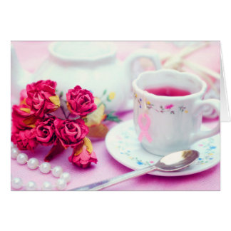 Think Pink Tea Greeting Card