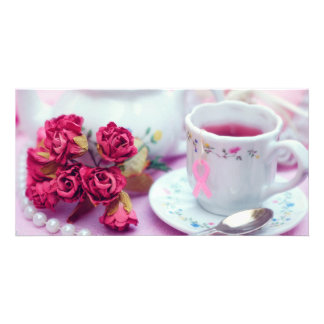 Think Pink Tea Photo Card Template