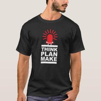 Think, Plan, Make, STEAM, dark T-Shirt
