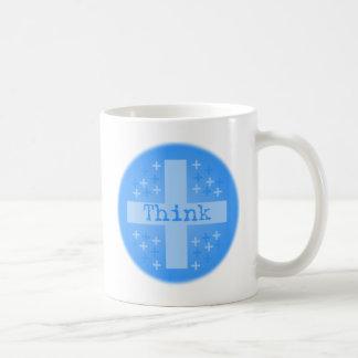 Think Positive Basic White Mug