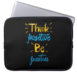 Think Positive Be Positive Neoprene Laptop Sleeve