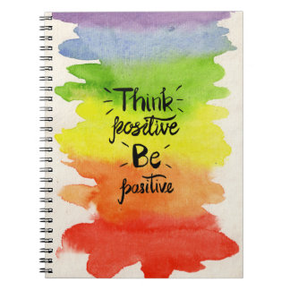 Think Positive Be Positive Note Book