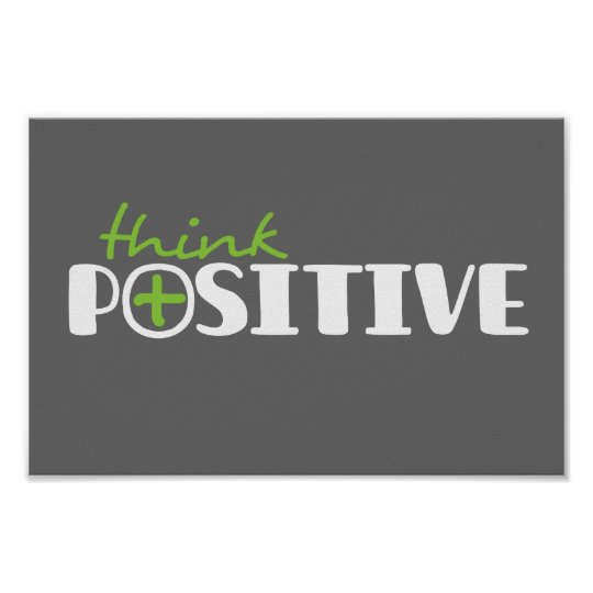 Think positive graphic square poster