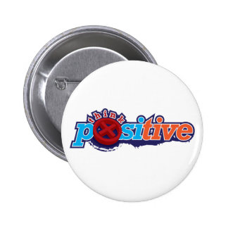 Think Positive Keychain Button