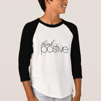 Think Positive Kids' 3/4 Sleeve Raglan Shirt