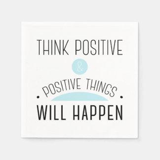 Inspirational Quotes Paper Napkins | Zazzle.co.uk