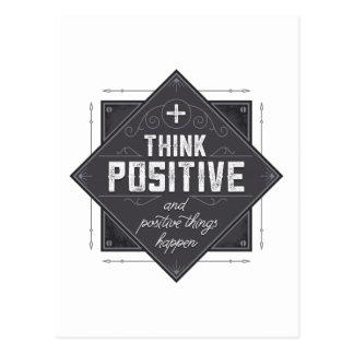 Think Positive Postcard