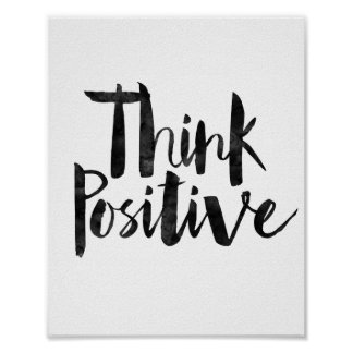 Think Positive Poster