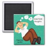 think positive refrigerator magnets