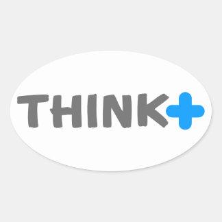 Think Positive Slogan Stickers