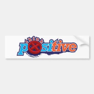 Think Positive Sticker Bumper Sticker