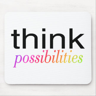 Think Possibilities Multi Colored Mouse Pads