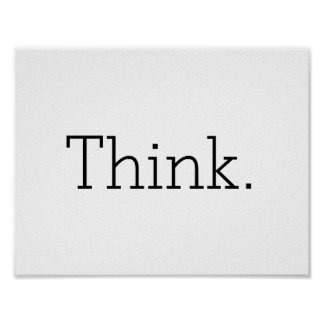 Think. Poster
