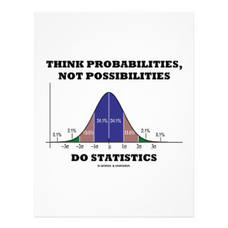 Think Probabilities, Not Possibilities Statistics 21.5 Cm X 28 Cm Flyer