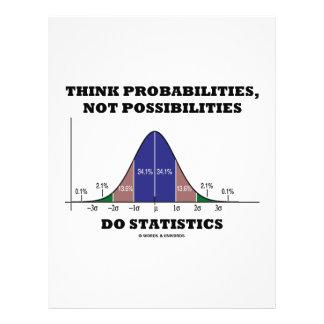Think Probabilities, Not Possibilities Statistics 21.5 Cm X 28 Cm Flyer