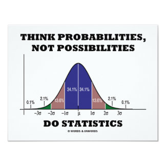 Think Probabilities, Not Possibilities Statistics Card