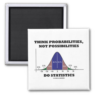 Think Probabilities, Not Possibilities Statistics Fridge Magnets