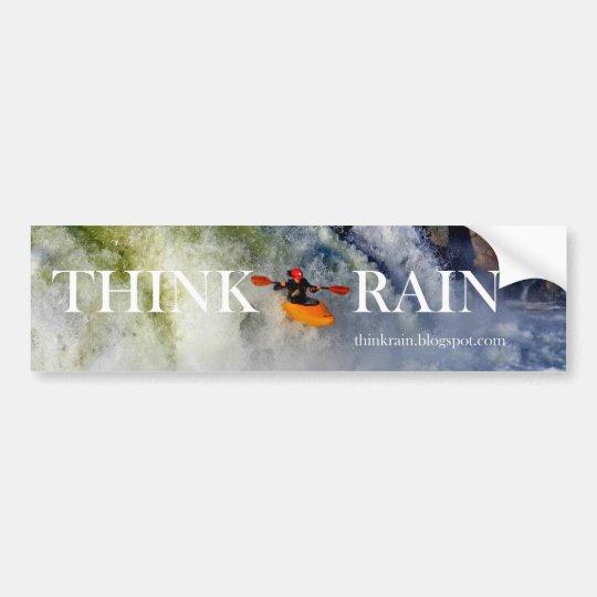 THINK RAIN BUMPER STICKER